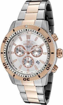 Relógio Invicta Specialty 1204 Banho Prata e Rosê Mov. Suíço