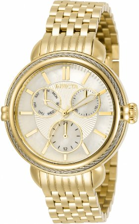 Relógio Invicta Wildflower 30849 Banho Ouro Pulseira Extra