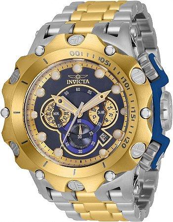 Relógio Invicta Venom Subaqua 35144 Banho Ouro e Prata