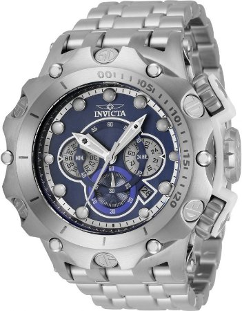 Relógio Invicta Venom Subaqua 35142 Banho Prata Mostrador Azul