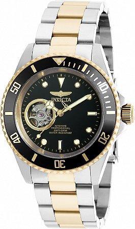 Relógio Invicta Pro Diver 20438 Automático Banho Prata e Ouro Mostrador