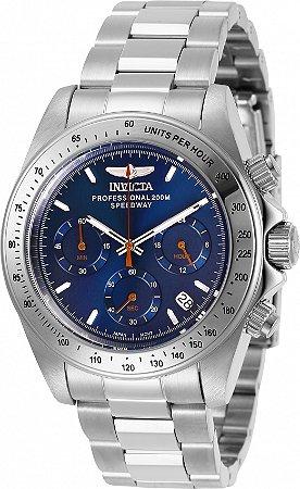 Relógio Invicta Speedway 27770 Banho Prata 40mm Mostrador Azul