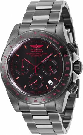 Relógio Invicta Speedway 27771 Banho Preto 40mm Mostrador Preto