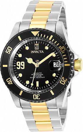 Relógio Invicta Jason Taylor 30210 Automático 40mm Banho Prata e Ouro
