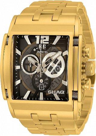 Relógio Invicta Shaq 33735 Banho Ouro 47mm Movimento Suíço