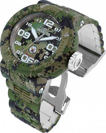 Relógio Invicta Us Navi 34679 Aqua Plating Camuflagem Verde Automático