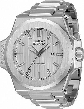 Relógio Invicta Akula 34729 Banho Prata Cx 58mm