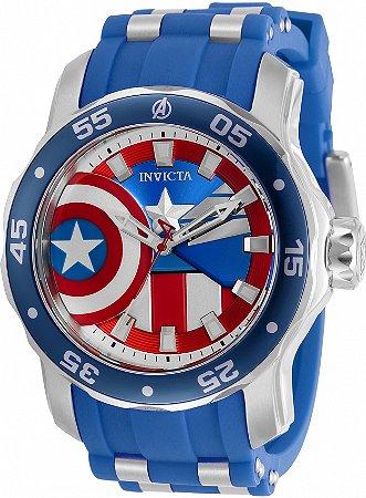 Relógio Invicta Marvel Capitão América 34743 Cx 48mm