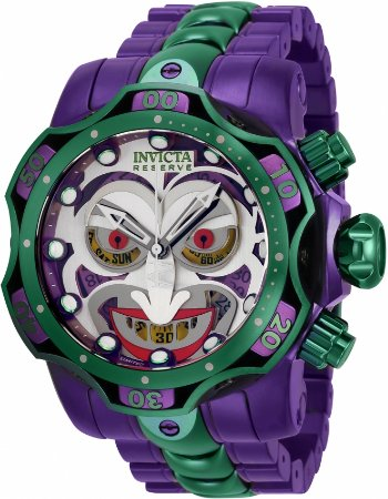 Relógio Invicta DC Comics Coringa 35380 Movimento Suíço Cx 52.5mm