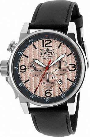 Relógio Invicta Iforce 20134 Banho Prata Pulseira em Couro