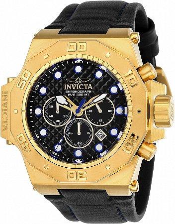 Relógio Invicta Akula 23103 Banho Ouro 58mm Cronógrafo