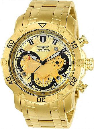 Relógio INVICTA Pro Diver 22761 Banhado a Ouro 18k Cronógrafo