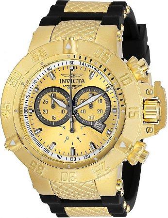 Relógio Invicta Subaqua Noma 5517 Banhado Ouro 18k Original Cronógrafo Suíço