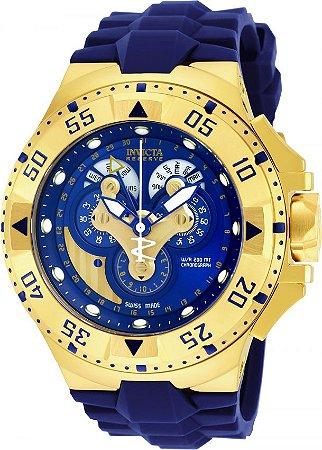 b5ecdf16a31 Relógio Invicta Excursion Reserve Hybrid 18558 Azul Banhado a ouro Suíço