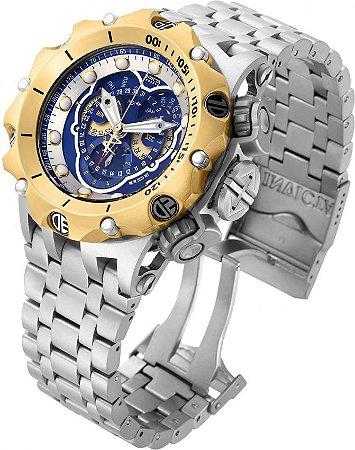Relógio Invicta Reserve Venom 16808 Hybrid Prata Suíço Cronógrafo Calendário Triplo