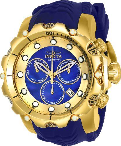 7da692b4e87 Relógio Invicta Venom 20402 Original Banhado a Ouro 18kt Azul Suíço  Cronógrafo