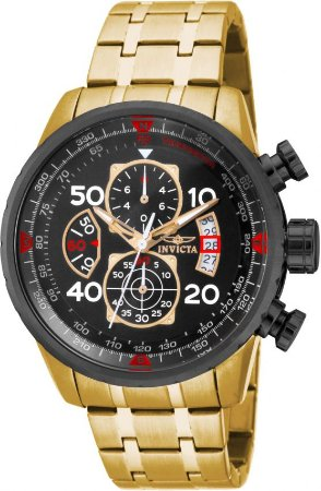 Relógio INVICTA 17206 Aviator 48mm Banhado a Ouro 18k