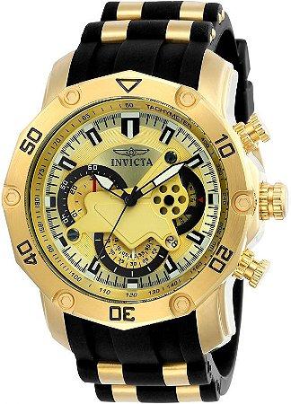 eb134c8df2d Relógio INVICTA 23427 Pro Diver 50mm Banhado a Ouro 18k cronógrafo ...