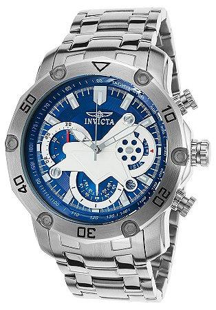 Relógio INVICTA 22764 Pro Diver 50mm Prata Azul Cronógrafo
