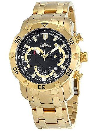 Relógio INVICTA 22767 Pro Diver 50mm Banhado a Ouro 18k Cronógrafo