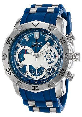 Relógio INVICTA 22796 Pro Diver 50mm Original Azul Prata Cronógrafo
