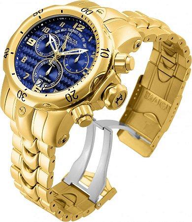 Relógio Invicta Reserve 17635 Venom Suíço Banhado a Ouro 18k