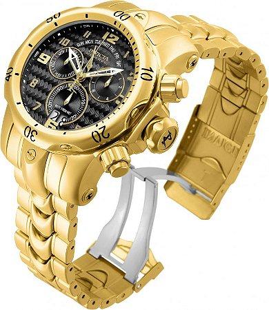 Relógio Invicta Reserve 17634 Venom Suíço Banhado a Ouro 18k Preto