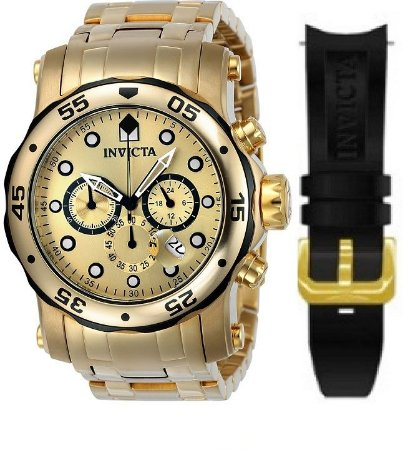 Relógio INVICTA 23670 Pro Diver Pulseira Dupla Troca Fácil  Lançamento