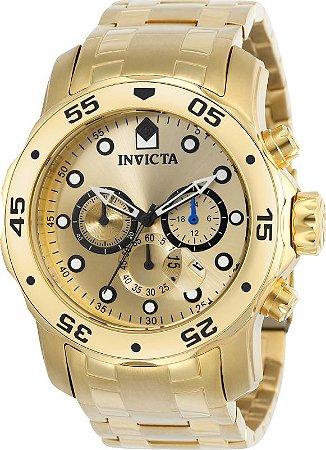 Relógio INVICTA 21924 Pro Diver Banhado a Ouro 18k Cronógrafo