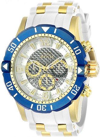 Relógio Invicta 23706 Pro Diver Masculino Banhado a Ouro 18k  Branco Cronógrafo