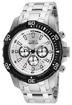 Relógio Invicta 24854 Pro Diver 51mm Masculino Prata  Mostrador Prata Cronógrafo