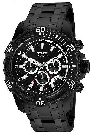 Relógio Invicta 24858 Pro Diver 51mm Masculino Preto Cronógrafo