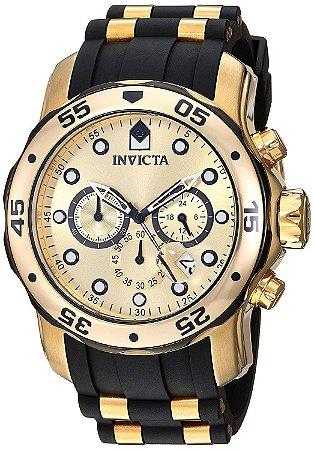 Relógio Invicta 17885 Pro Diver Masculino Banhado a Ouro 18k  Mostrador Dourado Cronógrafo