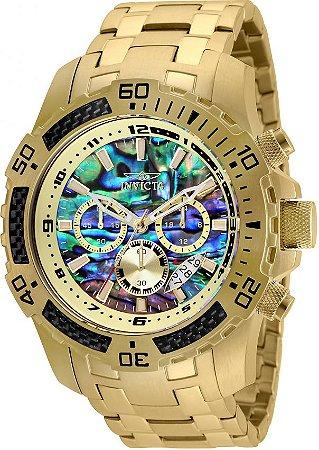 38a0d1ad4cc Relógio Invicta 25094 Pro Diver Masculino Banhado a Ouro 18k Mostrador  Multicor Cronógrafo