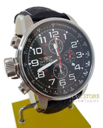 12cc801b828 Relógio Invicta 2770 I-Force Masculino Mostrador Preto Cronógrafo Pulseira  em Couro Preta Braço Direito