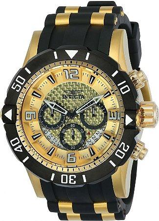 Relógio Invicta 23700 Pro Diver Masculino Banhado a Ouro 18k Mostrador Dourado Cronógrafo