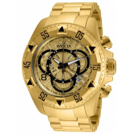 Relógio Invicta 24263 Excursion banhado a Ouro 18k Mostrador Texturizado Cronógrafo Suíço 52mm