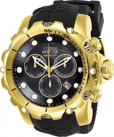 Relógio Invicta 26244 Venom Sea Dragon 55mm Preto Suíço Cronografo