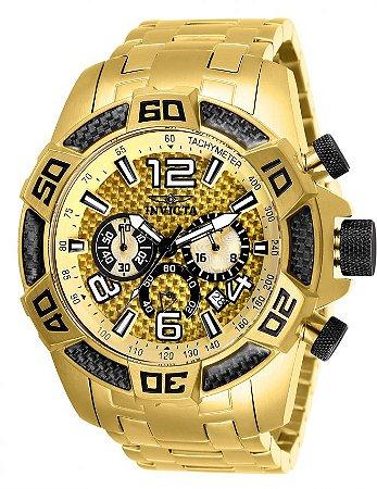 Relógio Invicta 25854 Pro Diver 50mm Mostrador Dourado Texturizado Cronógrafo