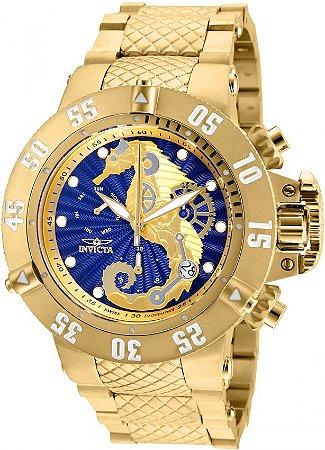 Relógio invicta 26230 Subaqua  Noma 3 Mostrador Azul Cronógrafo Suíço