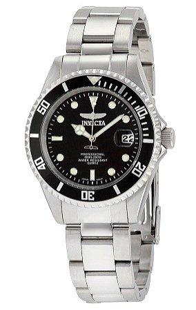 Relógio Invicta 8932OB Pro Diver 38mm Mostrador Preto Pequeno 200 Metros Resistente a Água