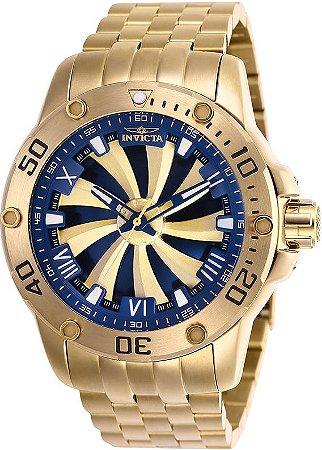 Relógio Invicta 25851 Speedway 49mm Automático Banhado a Ouro 18k Mostrador Rotativo
