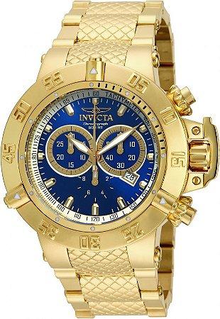 Relógio Invicta 14501 Subaqua Noma III 50mm Banhado a Ouro 18k Brilhante Cronógrafo Suíço
