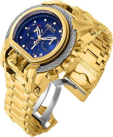 Relógio Invicta Reserve 26585 Bolt Zeus Magnum 52mm Mostrador Azul Cronógrafo Suíço