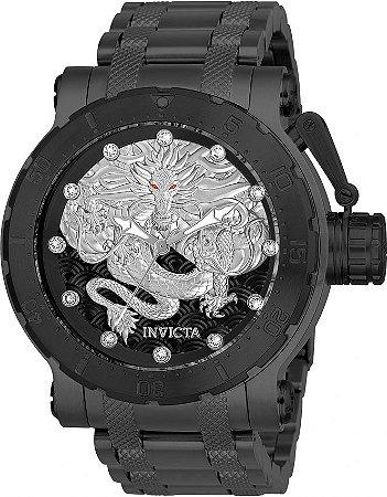 Relógio Invicta 26512 Coalition Forces Automático 52mm Preto Mostrador Texturizado