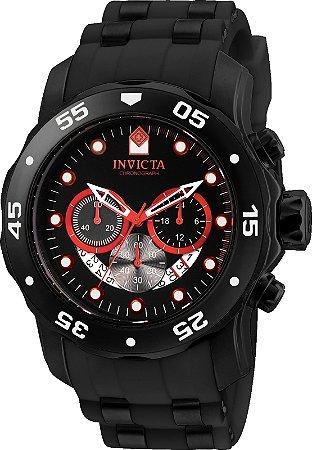 Relogio Invicta 24853 Pro Diver 48mm Banho Ion Preto Cronógrafo