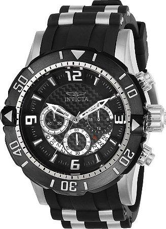 Relógio Invicta 23696 Pro Diver 50mm Banho Ion Prata Mostrador em Fibra de Vidro Cronógrafo