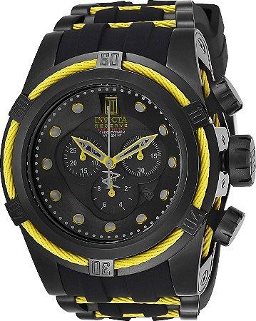 Relógio Invicta Reserve 25232 Jason taylor Mostrador Preto Movimento Suíço