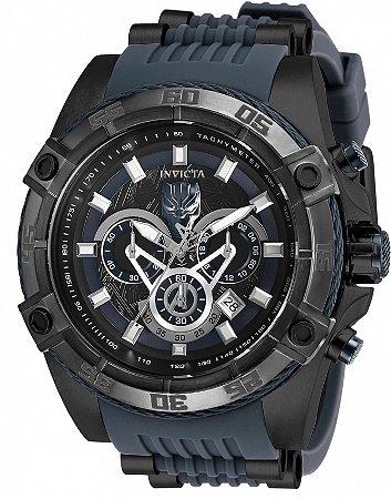 Relógio Invicta Marvel 26802 Pantera Negra 52mm Preto Cronógrafo