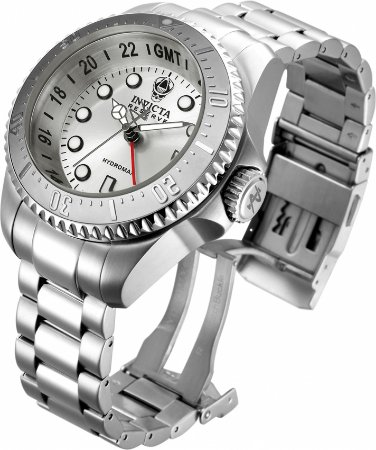 Relógio Invicta Reserve 29726 Hydromax 52mm Banho e Fundo Prata